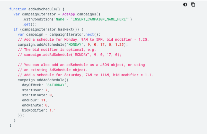 secuencia de comandos de google de automatización ppc