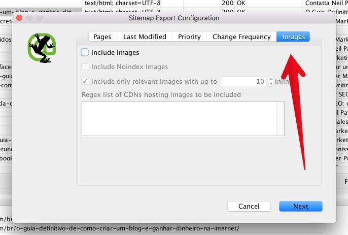 "La pestaña de imágenes de Howling Frog crea un mapa del sitio ""class ="" wp-image-26499 ""srcset ="" https://improvvisa.es/wp-content/uploads/2020/12/1608043892_464_Como-crear-un-mapa-de-sitio-XML-optimizado-para-SEO.jpg 686w, https: / / neilpatel. com / wp-content / uploads / 2017/03 / image02-2-350x236.jpg 350w ""tamaños ="" (ancho máximo: 686px) 100vw, 686px"