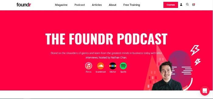 Cómo iniciar un podcast El podcast de Foundr
