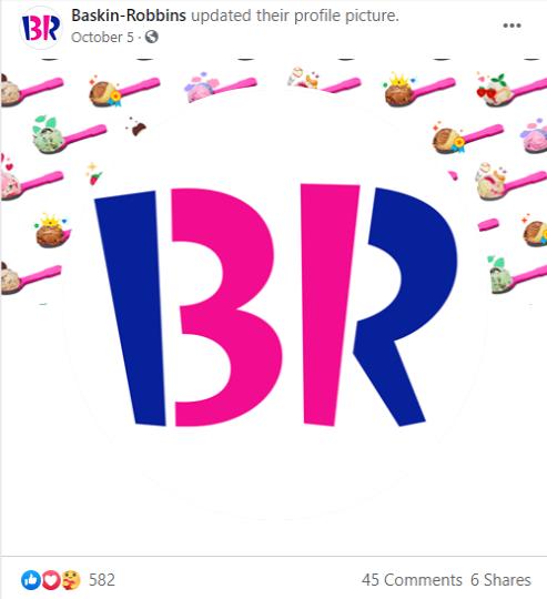 Ejemplo de mensajería subliminal de Baskin Robbins