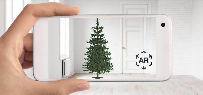 Aumente las ventas Herramientas de marketing Herramientas interactivas AR Christmas Tree
