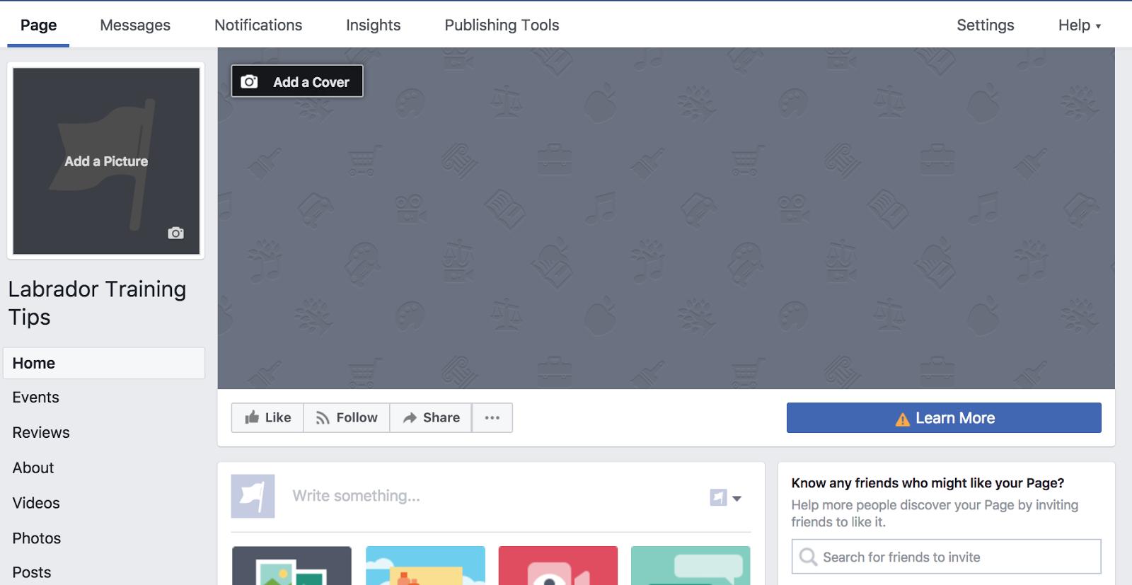 """crear una página de Facebook para promover el grupo de Facebook """"width ="""" 400 """"height ="""" 207"""