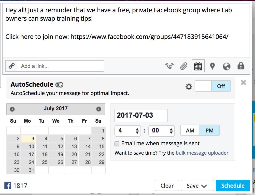 """Expanda su grupo de Facebook programando publicaciones """"width ="""" 519 """"height ="""" 396"""