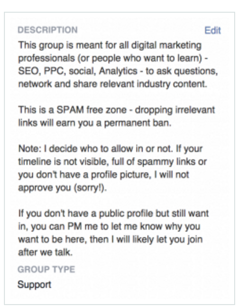 grow your facebook group rules