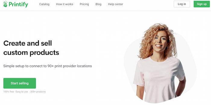 printify imprimir bajo demanda página de inicio