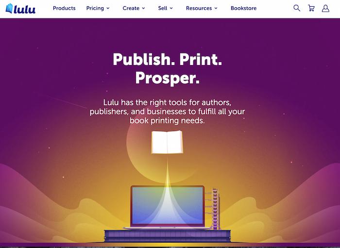 imprimir bajo demanda página de inicio de lulu