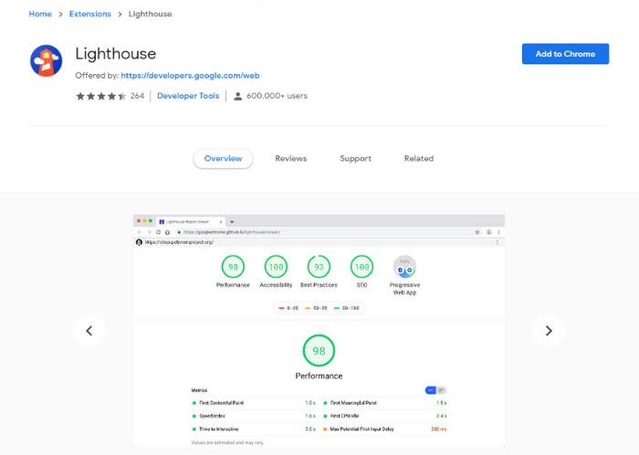 Agregar Google Lighthouse a Chrome