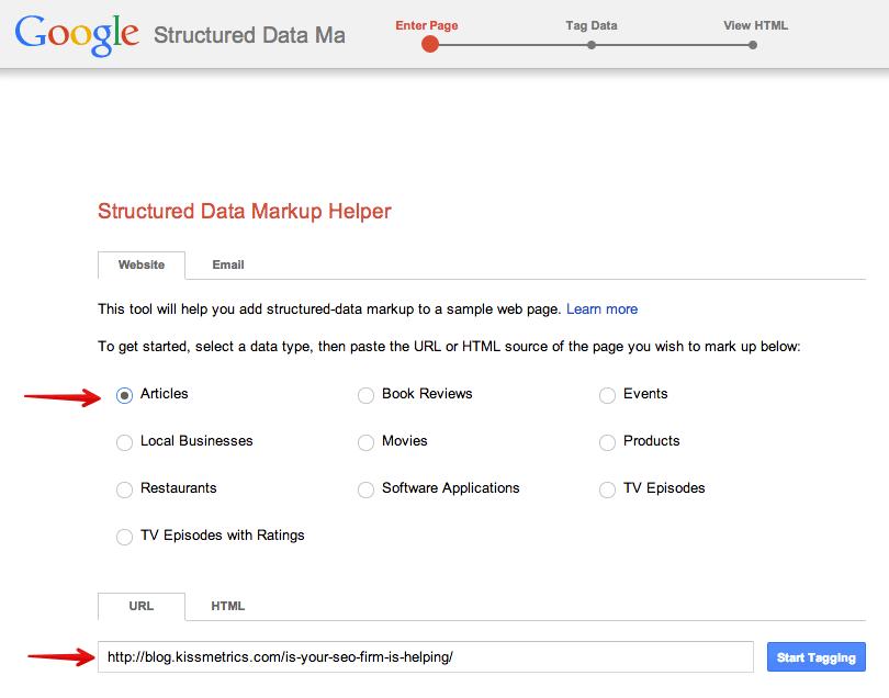ayuda con el marcado de datos estructurados