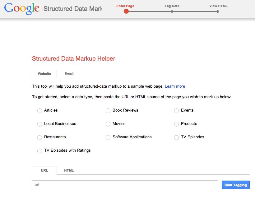 ayuda con el marcado de datos estructurados de Google