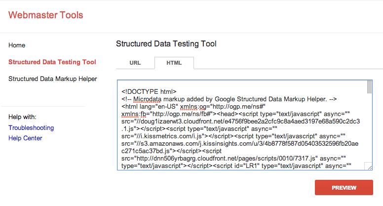 herramienta de datos estructurados para esquema