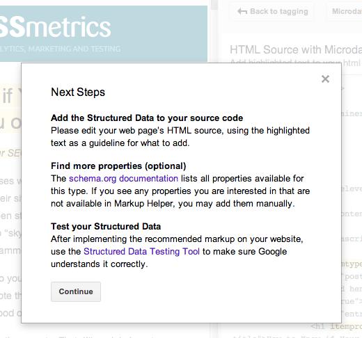 siguiente paso para agregar un esquema a su sitio web