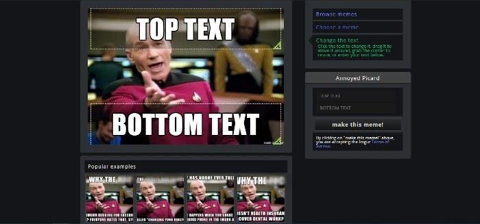 Creación de memes de marketing en Imgur Choose Text