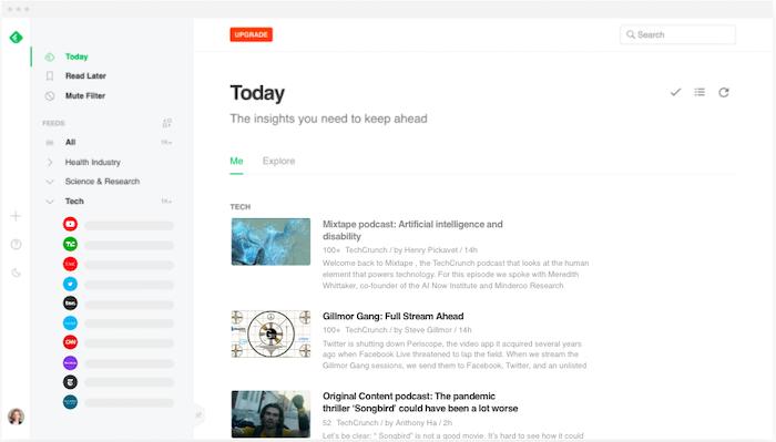 Alternativas a Google Reader Feedly