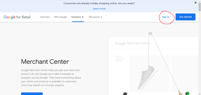 conexión centro comercial lente google