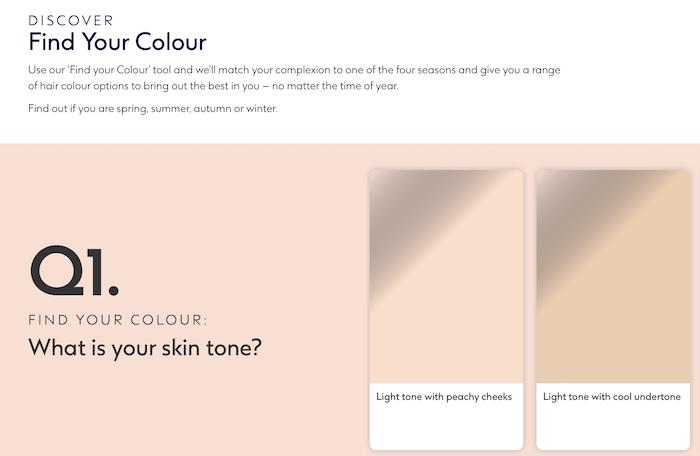 Herramientas interactivas para aumentar las ventas cuestionario sobre el color del cabello