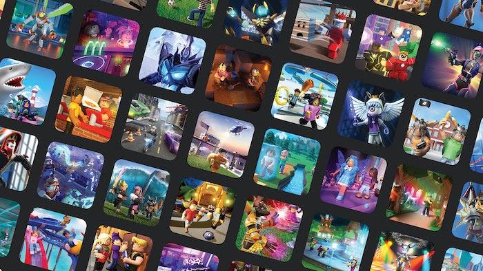 juegos como mosaicos de servicio de muchos juegos en línea presentados en la plataforma Roblox