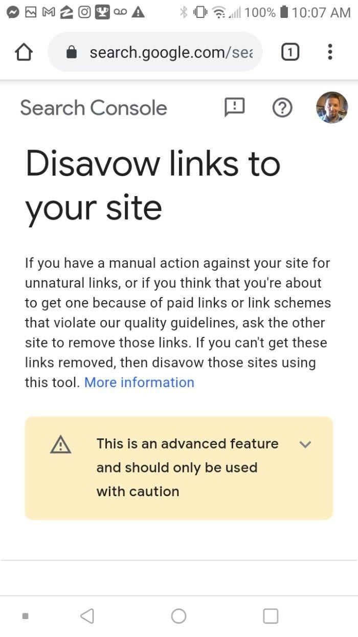 desautorizar enlaces para eliminar información de Google
