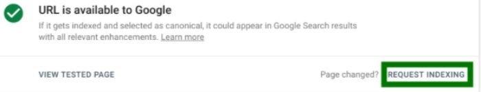 solicitar indexación para eliminar información de google