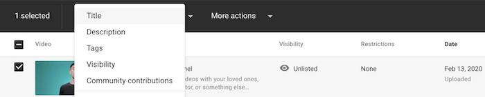 Auditoría y metadatos de YouTube
