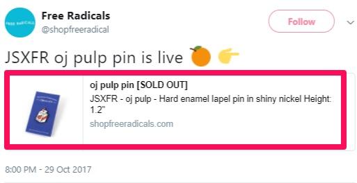 Twitter para ejemplo de SEO de producto