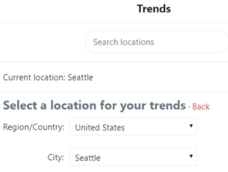 Las tendencias de Twitter establecen la ubicación