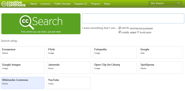 motores de búsqueda de creative commons avanzados y alternativos