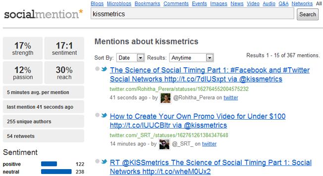 mención social de motores de búsqueda avanzados y alternativos