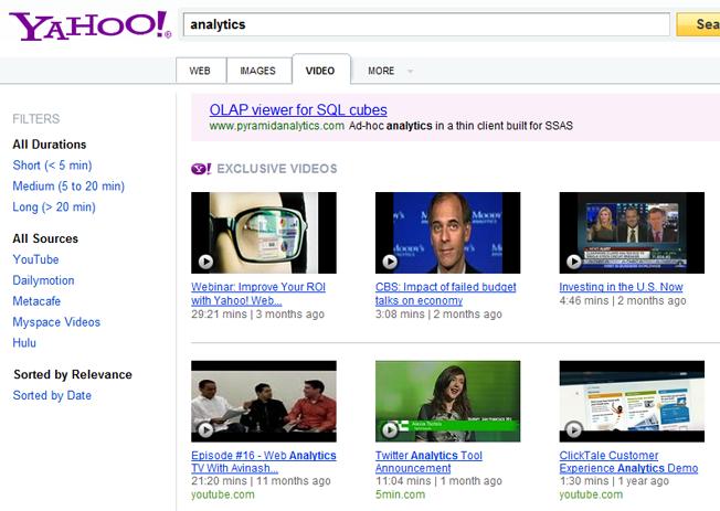 motores de búsqueda avanzados y alternativos búsqueda de videos de yahoo