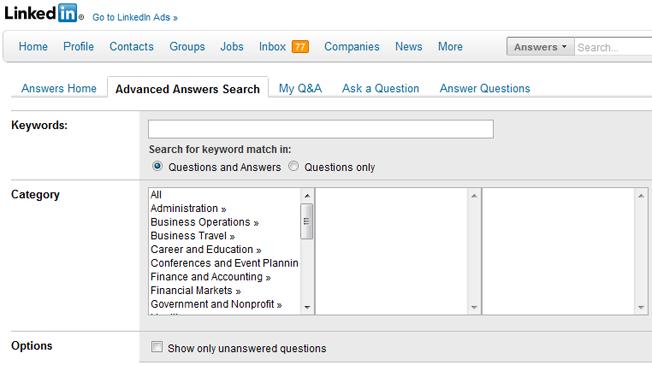 Los motores de búsqueda avanzados y alternativos buscan respuestas de LinkedIn