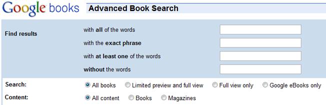 motores de búsqueda avanzados y alternativos google books