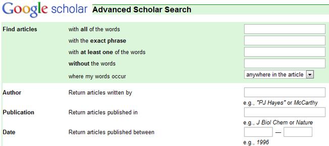 motores de búsqueda avanzados y alternativos google scholar