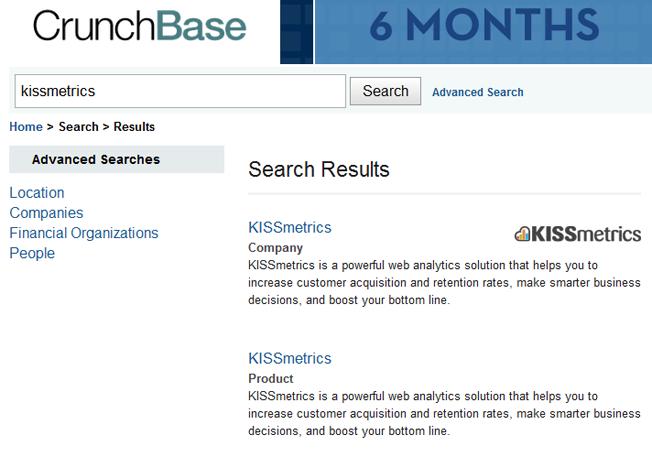 motores de búsqueda avanzados y alternativos crunchbase