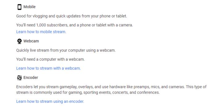 diferentes tipos de transmisión de youtube para obtener clientes potenciales de youtube
