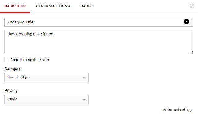 ir en vivo en la transmisión de youtube obtener clientes potenciales de youtube
