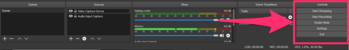 Captura de pantalla de la barra de herramientas del codificador de transmisión de youtube obtener clientes potenciales de youtube