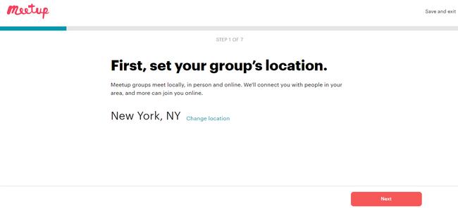 Configura la ubicación de tu grupo en Meetup, una alternativa a los grupos de Yahoo