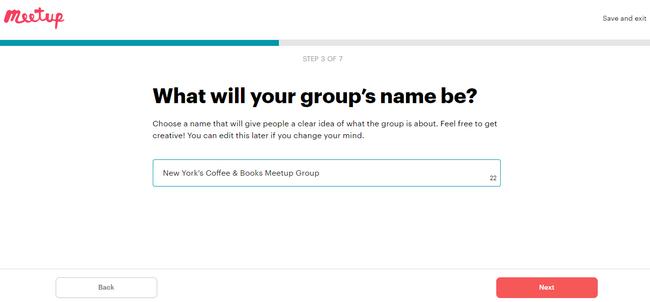 Cómo elegir el nombre de tu grupo para tu grupo de Meetup
