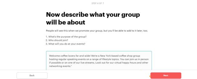 Cómo elegir el nombre de tu grupo en Meetups