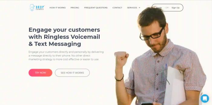 Drop Cowboy ofrece servicios de correo de voz sin tonos de llamada.