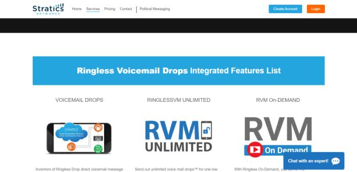 Stratics Network ofrece buzón de voz sin timbre en Canadá y Estados Unidos.