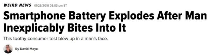 Ejemplo de un título extraño.