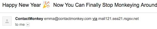 Ejemplo de generador de título de correo electrónico Craftmonkey