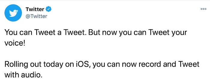 ¿Alguien puede usar tweets de voz?