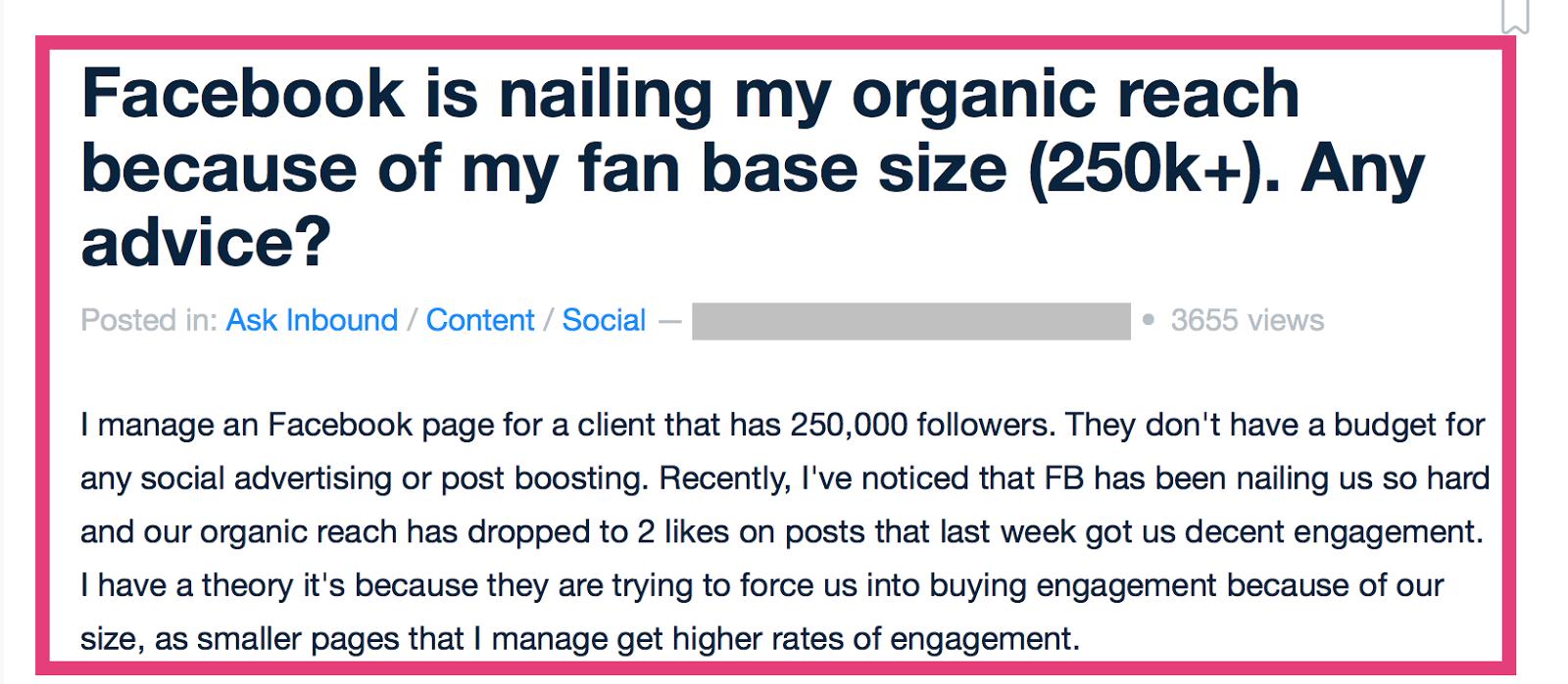 """El alcance orgánico de Facebook es menor para grandes audiencias """"width ="""" 700 """"height ="""" 300"""