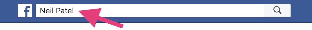 """Barra de búsqueda de Facebook cómo aumentar el alcance orgánico """"width ="""" 546 """"height ="""" 54"""