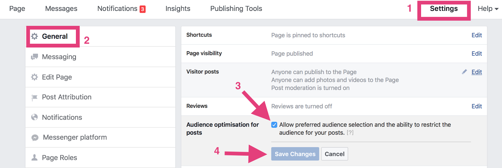 """organic facebook reach enable targeting features """" width=""""700"""" height=""""245"""