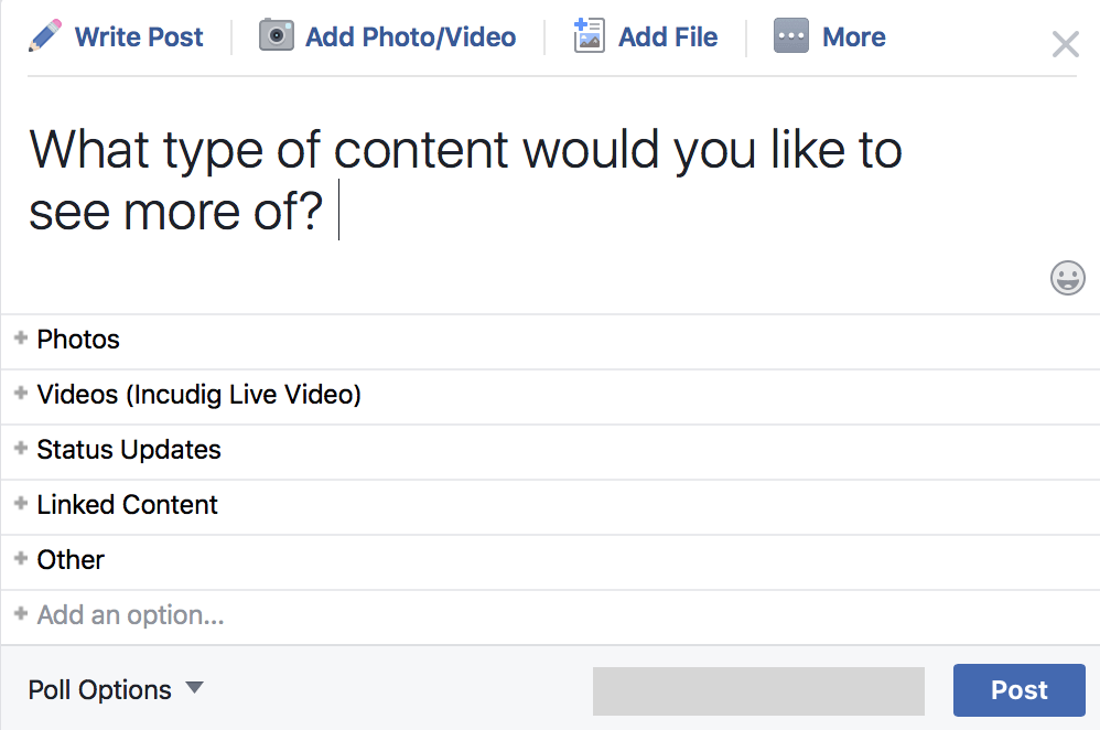 """poll audience to increase facebook organic reach """" width=""""700"""" height=""""450"""