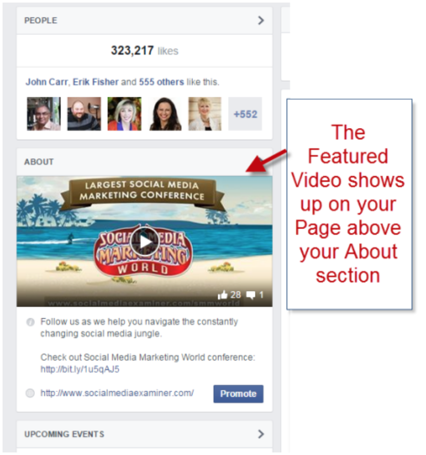 """facebook organic traffic pin a video example """" width=""""626"""" height=""""669"""