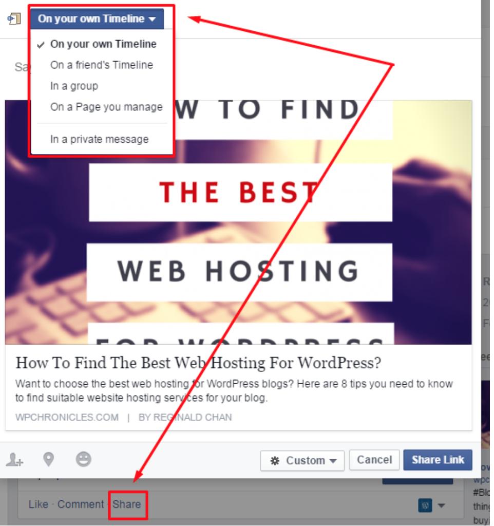 "share a post to boost organic facebook reach"" width=""481"" height=""512"