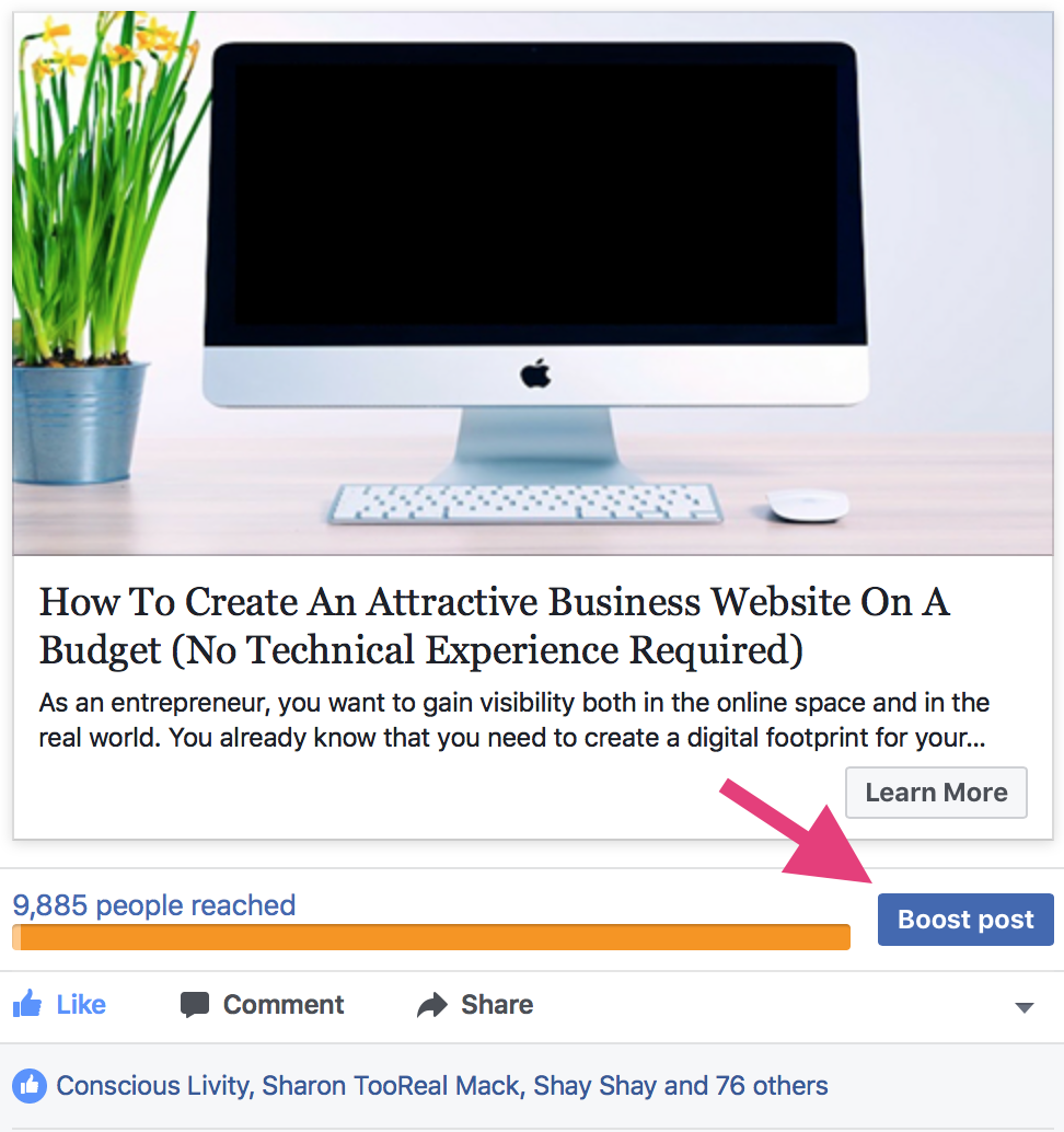 """boost post to increase facebook organic reach """" width=""""486"""" height=""""517"""